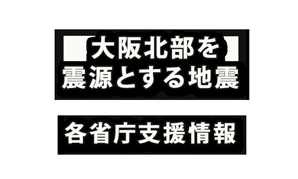 2018年6月18日(月)大阪北部を震源とする地震の各省庁支援情報