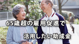 65歳超の雇用促進を行う際に活用したい助成金