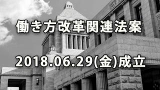 働き方改革関連法案 2018.06.29(金)参議院可決・成立
