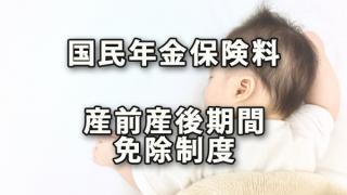 「国民年金保険料の産前産後期間免除制度」開始