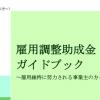 雇用調整助成金ガイドブック2020.3.1版に更新